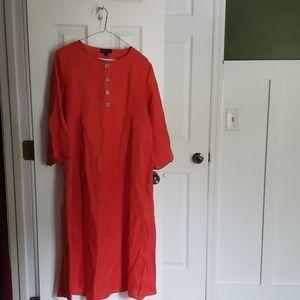 ROOLEE Mabel Linen Dress in Poppy